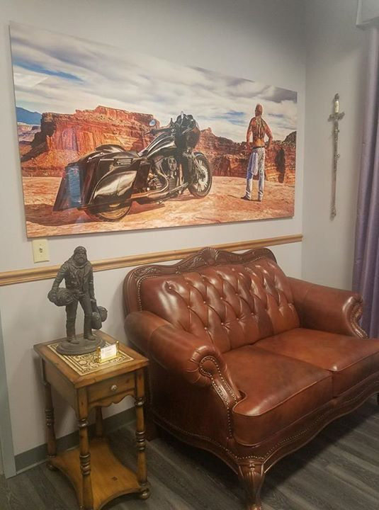 Sneak peak into the @Flickingerlegalgroup law office. We love  #motorcycles  #Ri…