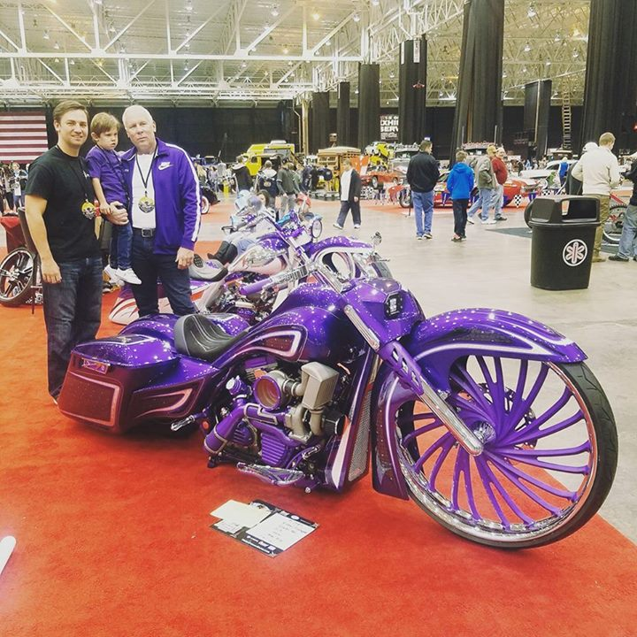 The Flickinger men in front of the new Flickinger Legal Group  motorcycle custom…