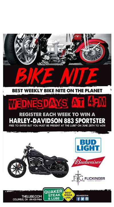 Bike night is TOMORROW at 6:00pm and the Flickinger legal group is a sponsor. Co…