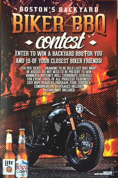 Come out to the next bike night to take advantage of this opportunity!! JUNE 6th…