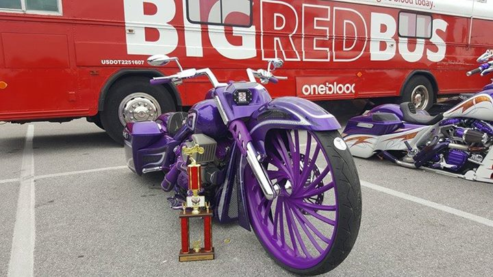The FLG custom bagger won the baddest bagger 30-inch in Panama City! This bike w…
