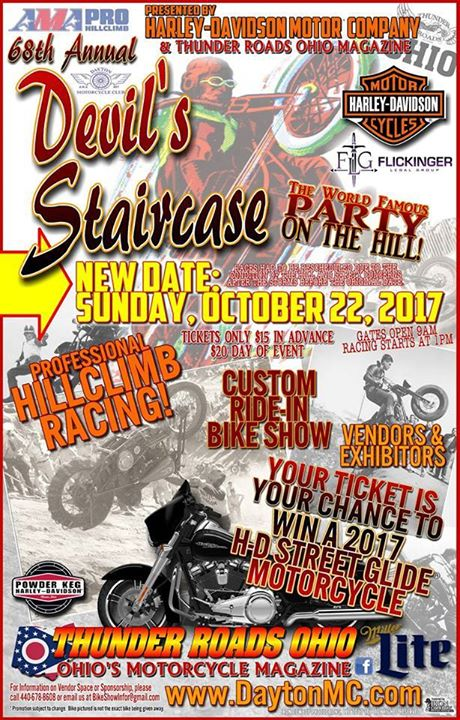 TODAYS THE DAY! Everyone please be safe riding the 68th Annual Devil's Staircase…